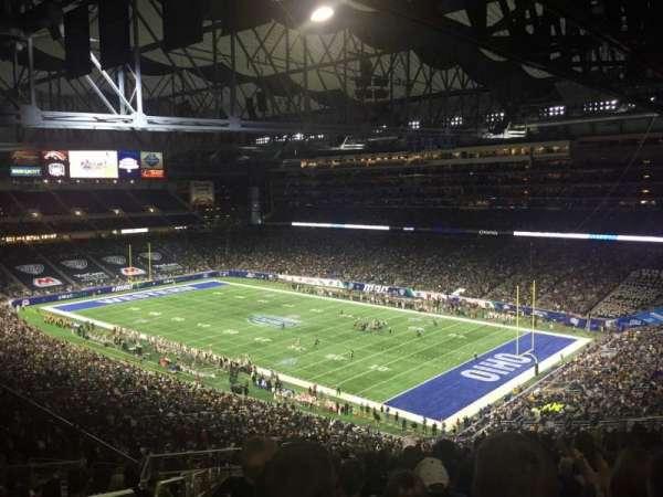 Ford Field, vak: 338, rij: 19, stoel: 2