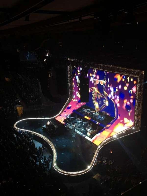 Madison Square Garden, vak: 313, rij: 1, stoel: 6