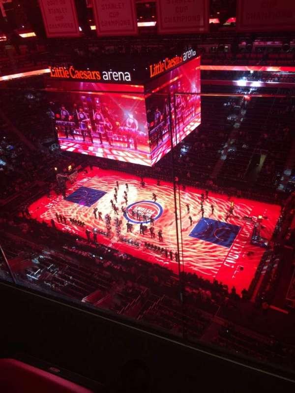 Little Caesars Arena, vak: G15, rij: 2, stoel: 3