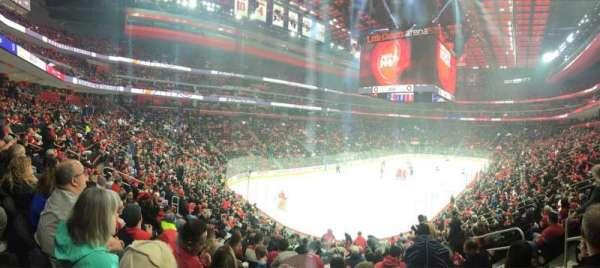 Little Caesars Arena, vak: 101, rij: 19, stoel: 6