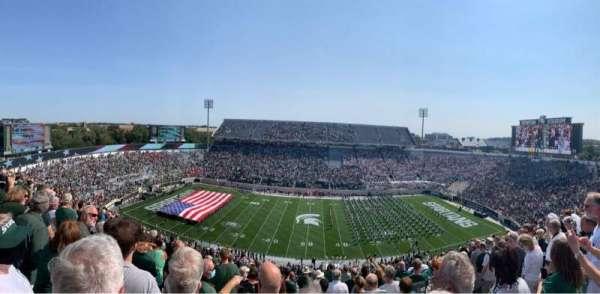 Spartan Stadium, vak: 123, rij: 15, stoel: 34