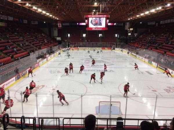 Floyd L. Maines Veterans Memorial Arena, vak: 8, rij: H, stoel: 15
