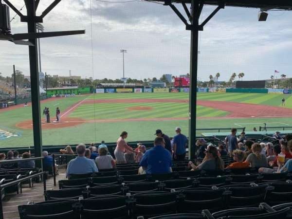 Jackie Robinson Ballpark, vak: C, rij: 13, stoel: 2