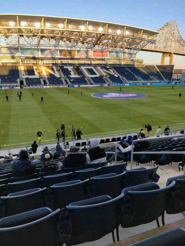Talen Energy Stadium, vak: 110, rij: T, stoel: 4