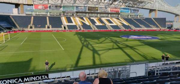 Talen Energy Stadium, vak: 111, rij: S, stoel: 11