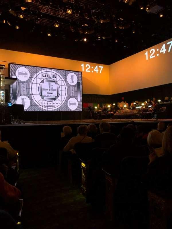 Belasco Theatre, vak: Orch, rij: G, stoel: 1