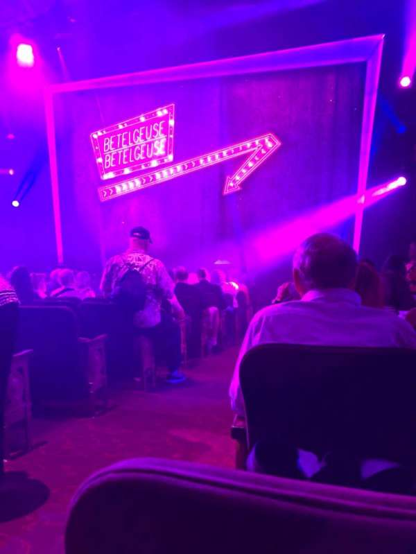 Winter Garden Theatre, vak: Orchestra R, rij: N , stoel: 2