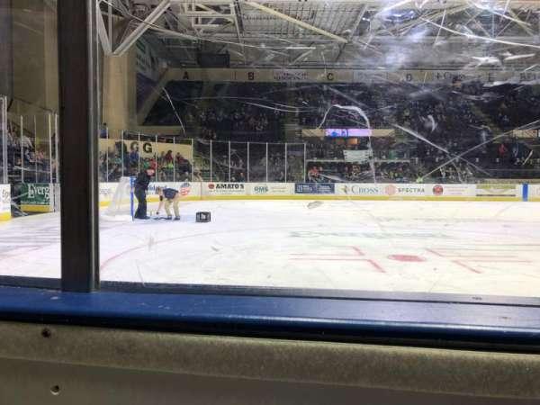 Cross Insurance Arena, vak: Y, rij: 1, stoel: 3