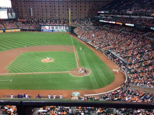 Oriole Park at Camden Yards, vak: 348, rij: 1, stoel: 1