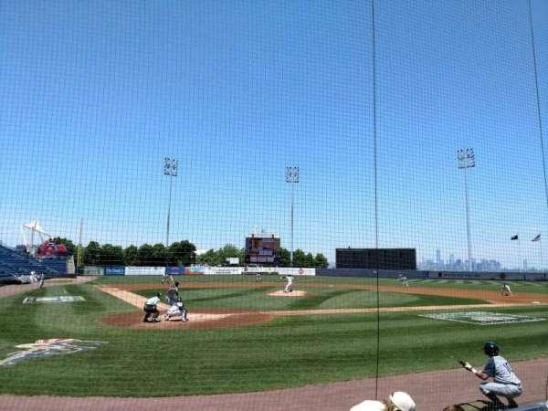 Richmond County Bank Ballpark, vak: 10, rij: E, stoel: 8