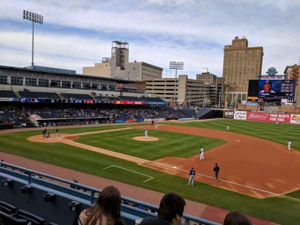 Fifth Third Field, vak: 215, rij: C, stoel: 1