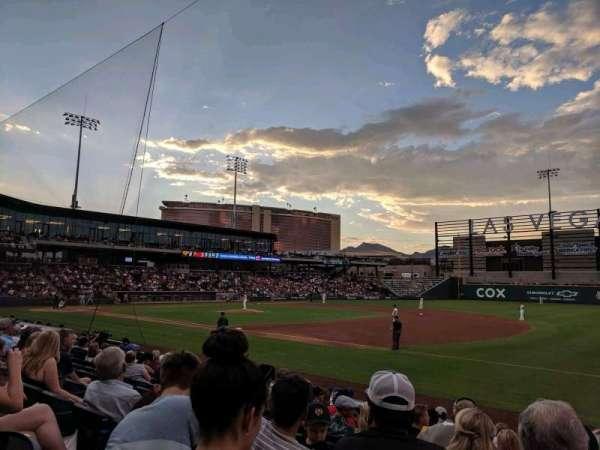 Las Vegas Ballpark, vak: 105, rij: L, stoel: 22