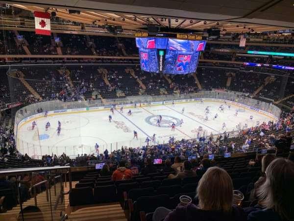 Madison Square Garden, vak: 209, rij: 12, stoel: 2