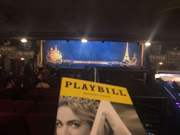 Broadhurst Theatre, vak: Orchestra, rij: Standing Room, stoel: 108