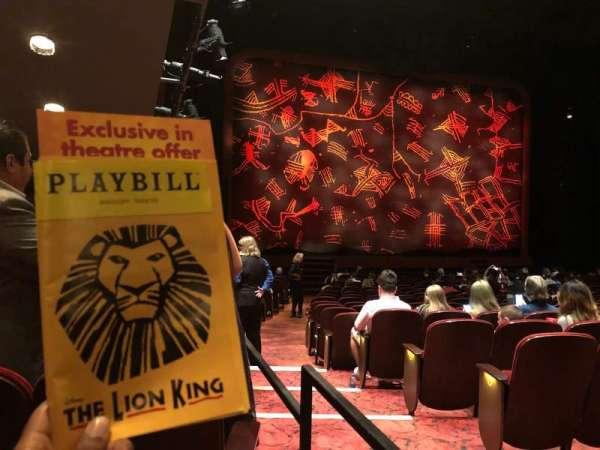 Minskoff Theatre, vak: Orchestra, rij: U, stoel: 1