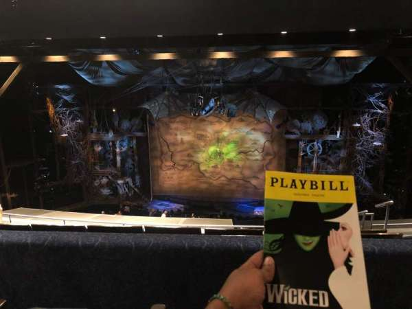 Gershwin Theatre, vak: Mezzanine, rij: G, stoel: 116