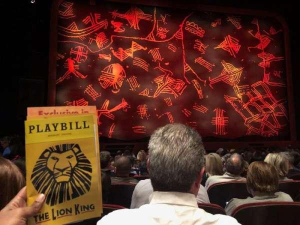 Minskoff Theatre, vak: Orchestra C, rij: M, stoel: 106