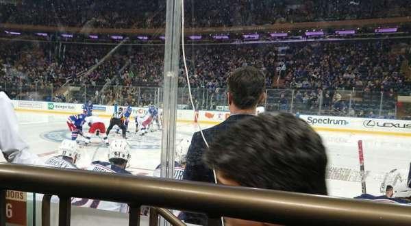 Madison Square Garden, vak: 108, rij: 1, stoel: 3