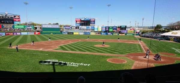 McCoy Stadium, vak: 9, rij: H, stoel: 5