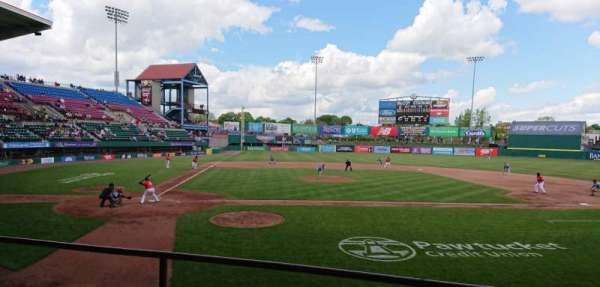 McCoy Stadium, vak: 4, rij: C, stoel: 8