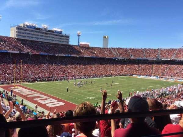 Cotton Bowl, vak: 29, rij: 46, stoel: 19