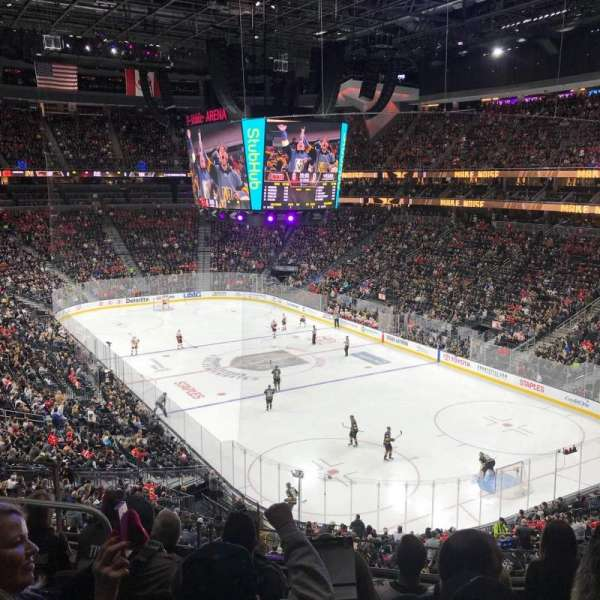 T-Mobile Arena, vak: 118, rij: F, stoel: 7