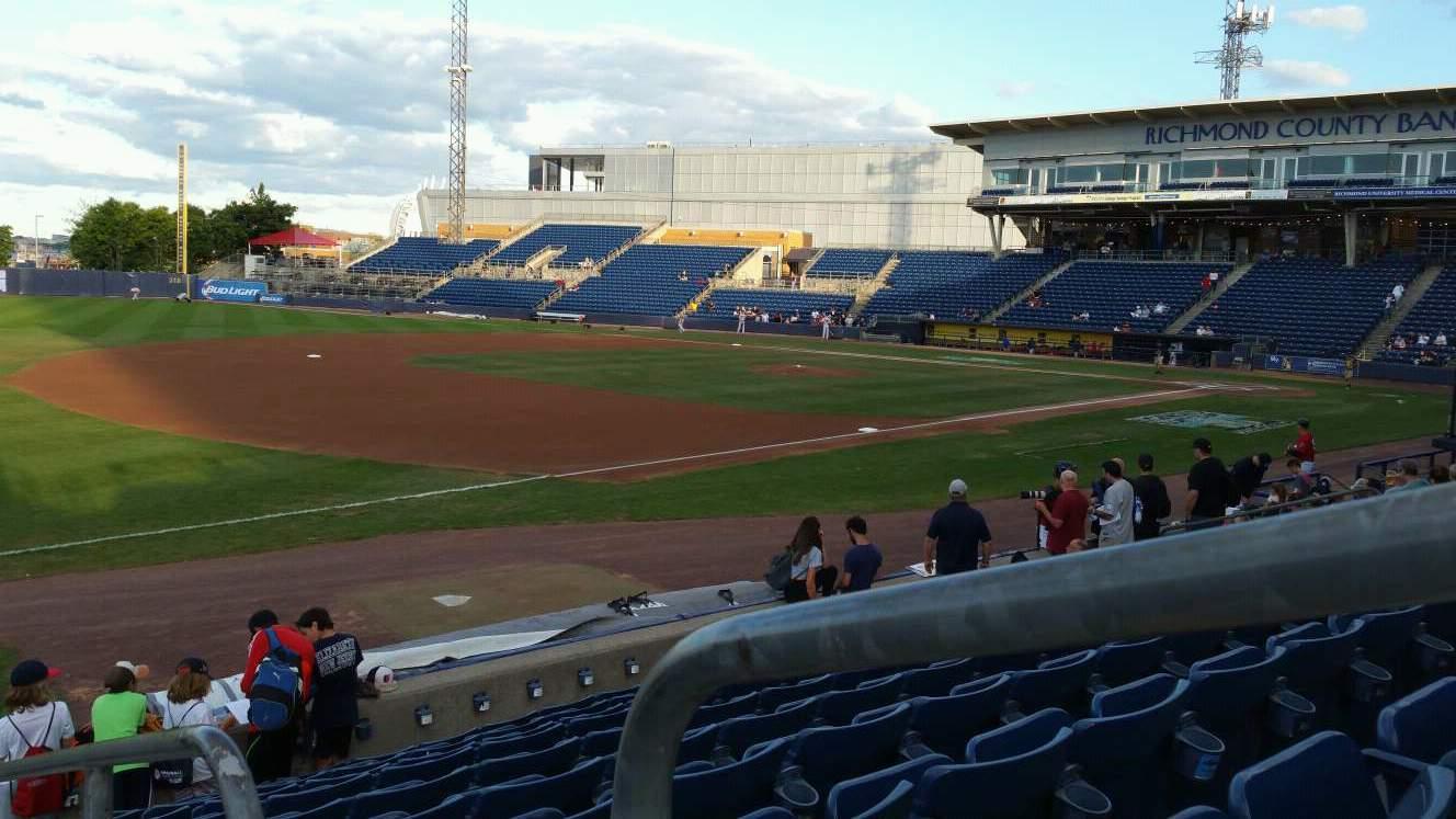 Richmond County Bank Ballpark Vak 3 Rij K Stoel 1