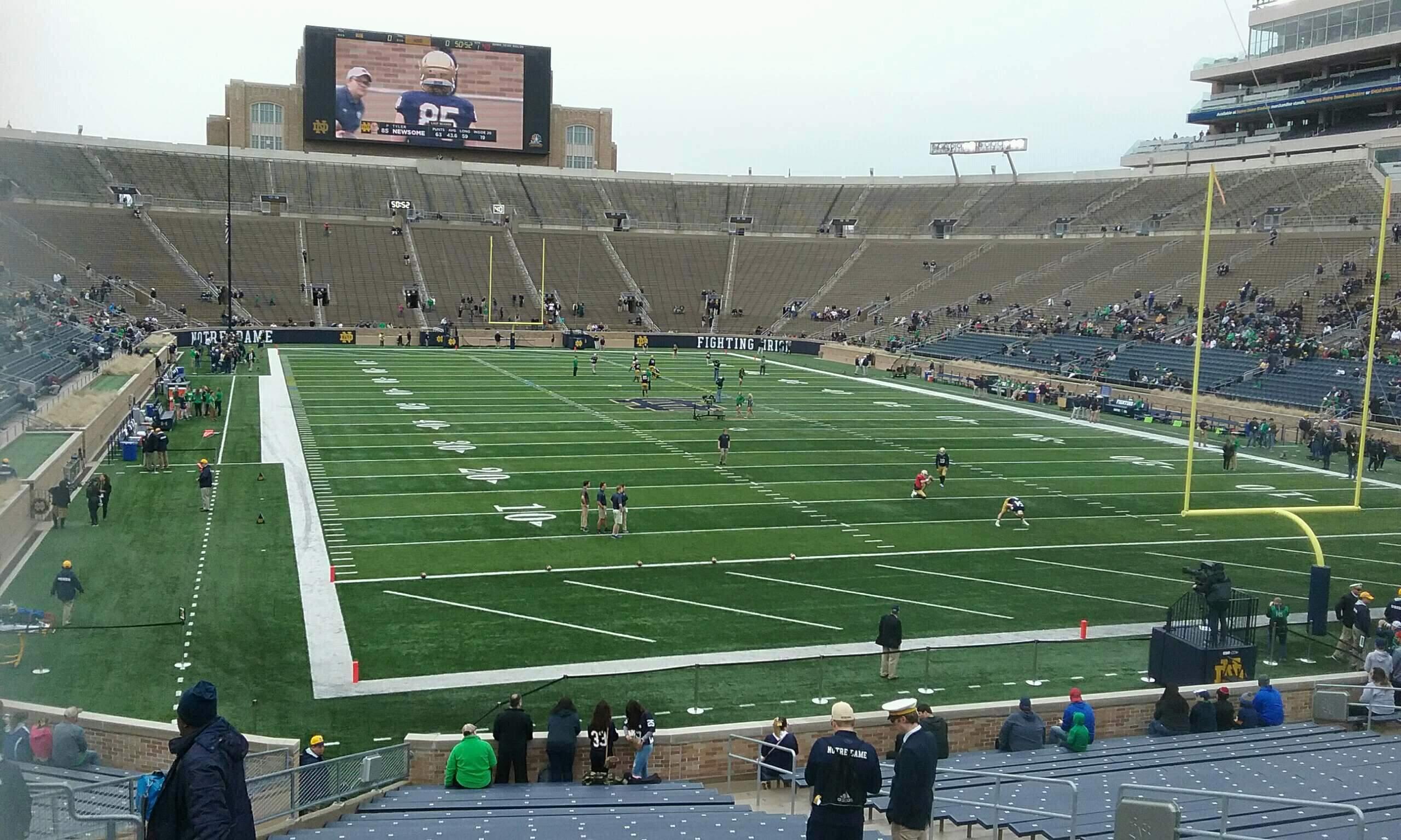 Notre Dame Stadium Vak 3 Rij 35 Stoel 14