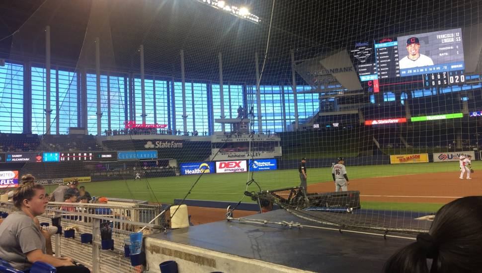 Marlins Park,  Vak <strong>232</strong>, Rij <strong>2</strong>, Stoel <strong>20</strong>