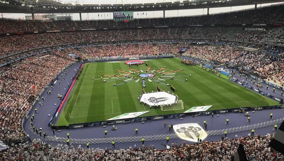 Stade de France,  Vak <strong>Tribune Schuth</strong>, Rij <strong>Parcage</strong>, Stoel <strong>Visiteur</strong>