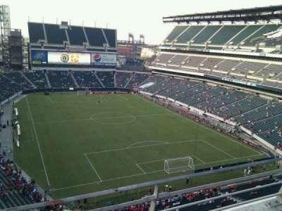 Lincoln Financial Field, vak: 209, rij: 2, stoel: 11