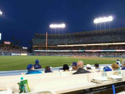 Dodger Stadium, vak: 43BL, rij: 6
