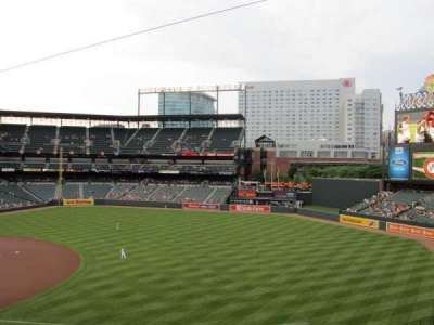 Oriole Park at Camden Yards, vak: 214, rij: 5, stoel: 4