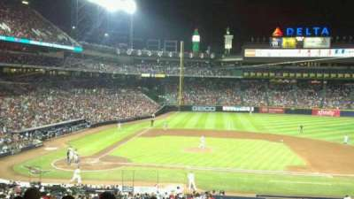 Turner Field, vak: 207, rij: 9, stoel: 12