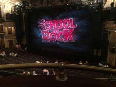 Winter Garden Theatre, vak: Right mezzanine, rij: A, stoel: 4