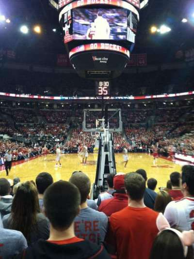 Value City Arena, vak: 114, rij: JJ, stoel: 14
