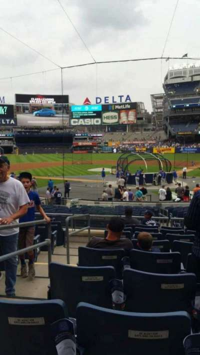 Yankee Stadium, vak: 121A, rij: 9, stoel: 12
