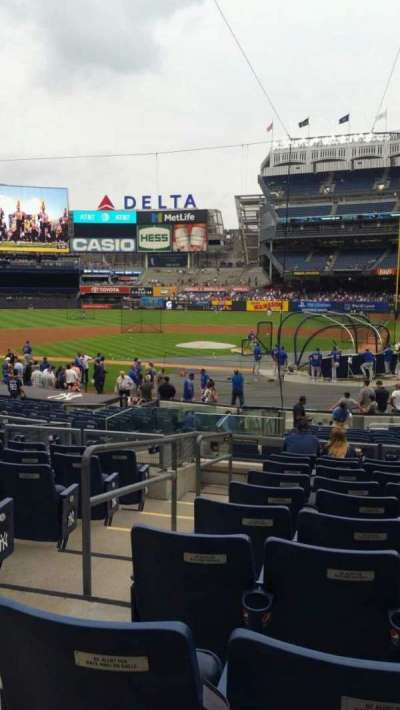 Yankee Stadium, vak: 121B, rij: 10, stoel: 12