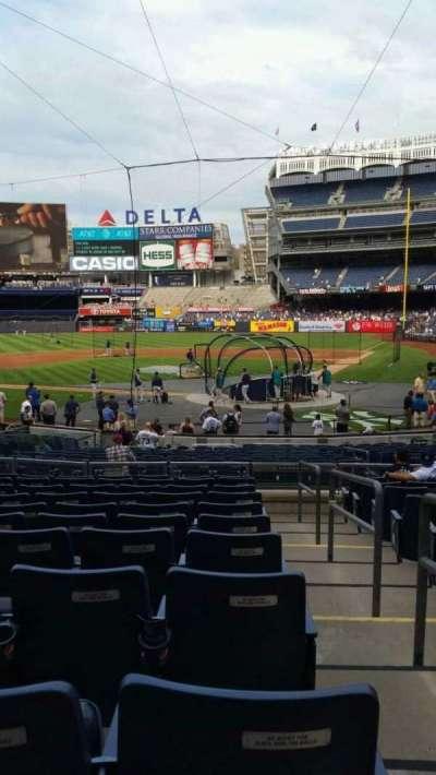 Yankee Stadium, vak: 121B, rij: 11, stoel: 1