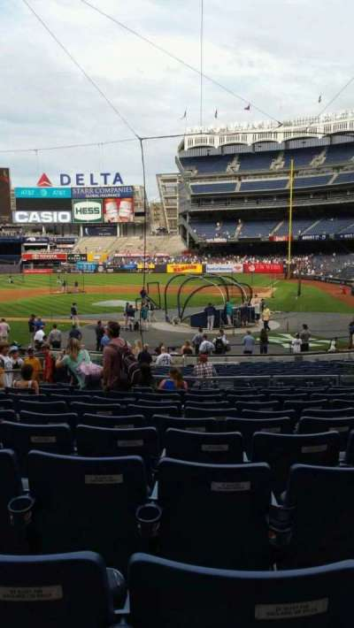 Yankee Stadium, vak: 121B, rij: 11, stoel: 5
