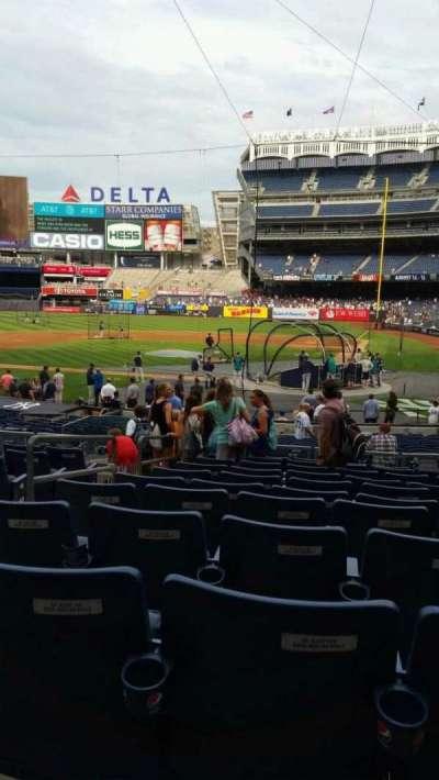 Yankee Stadium, vak: 121B, rij: 11, stoel: 7