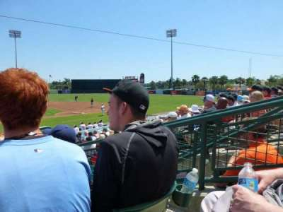 Ed Smith Stadium, vak: 210, rij: 4, stoel: 3