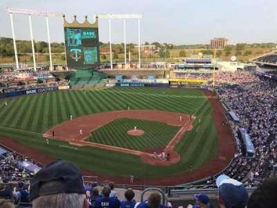 Kauffman Stadium, vak: 417, rij: N, stoel: 8