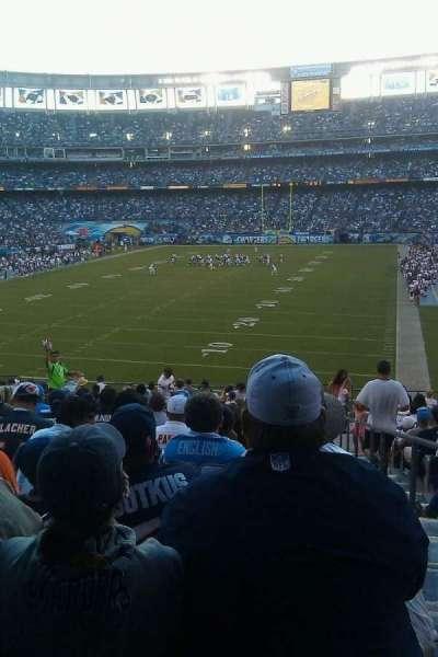 Qualcomm Stadium, vak: P54, rij: 16, stoel: 18
