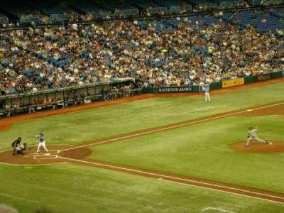 Tropicana Field, vak: 216, rij: E, stoel: 15