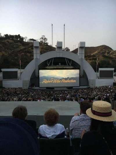 Hollywood Bowl, vak: J1, rij: 8, stoel: 18