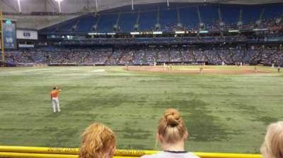 Tropicana Field, vak: 143, rij: V, stoel: 6