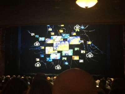 August Wilson Theatre, vak: Orchestra, rij: U, stoel: 4