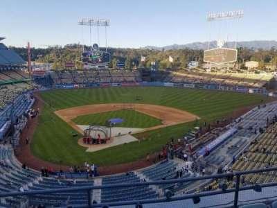 Dodger Stadium, vak: 4RS, rij: D, stoel: 9
