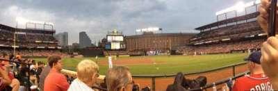 Oriole Park at Camden Yards, vak: 54, rij: 2, stoel: 7